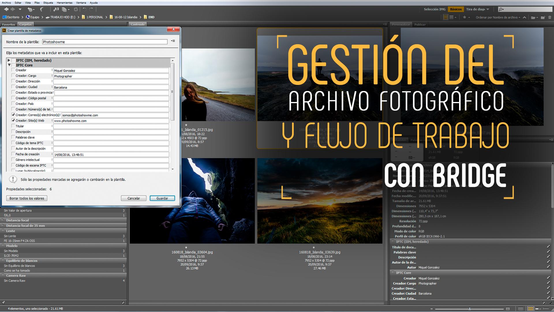Gestión del archivo fotográfico con Adobe Bridge